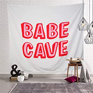 UnaTX Babe Cave Tapestry,Funny Party Tapestry Wall Hanging Tapestry for Home Dorm Bedroom Decore(59.1X51.2 Inches)