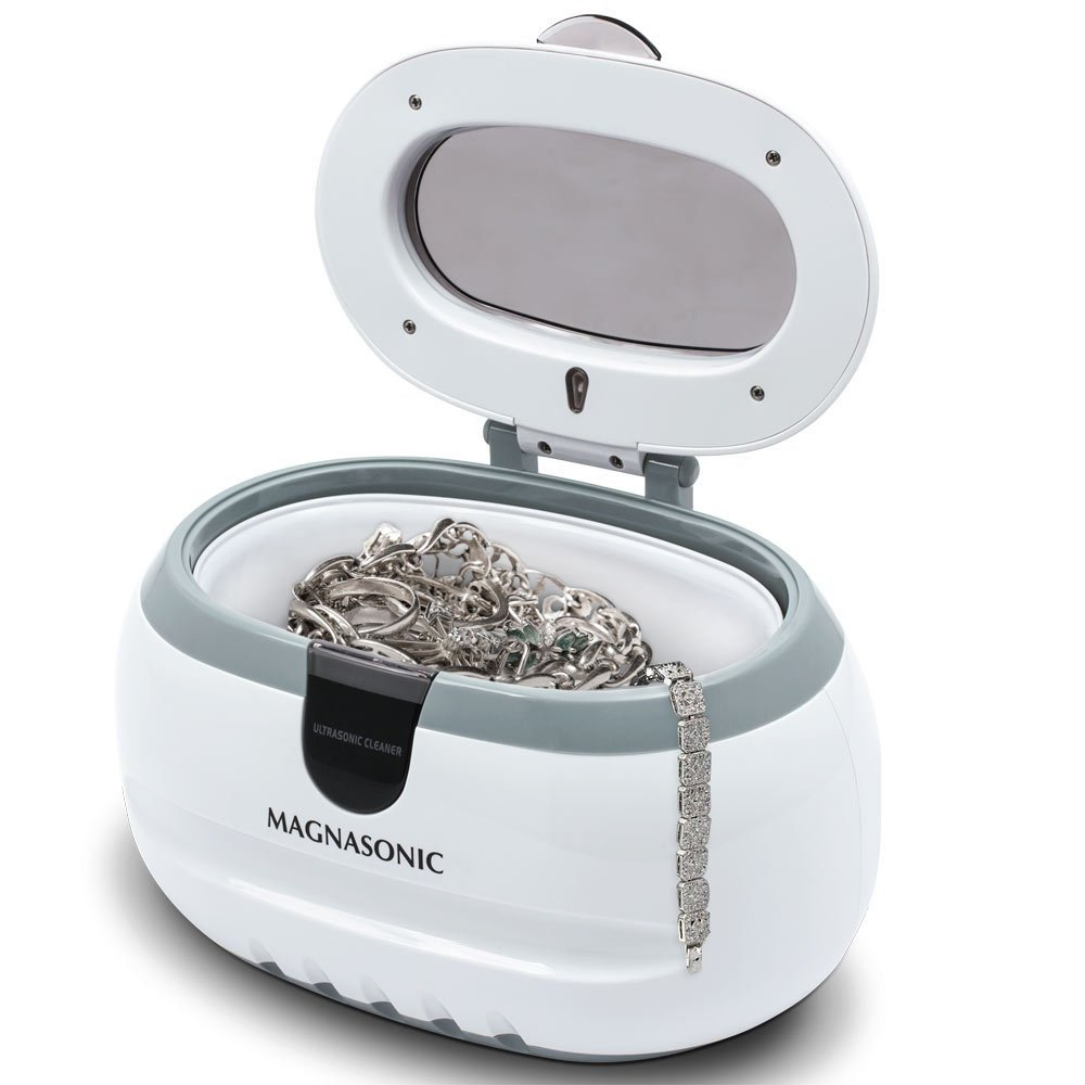 Magnasonic Professional Ultrasonic Polishing Jewelry Cleaner Machine for Cleaning Eyeglasses, Watches, Rings, Necklaces, Coins, Razors, Dentures, Combs, Tools, Parts, Instruments (CD2800) by Magnasonic