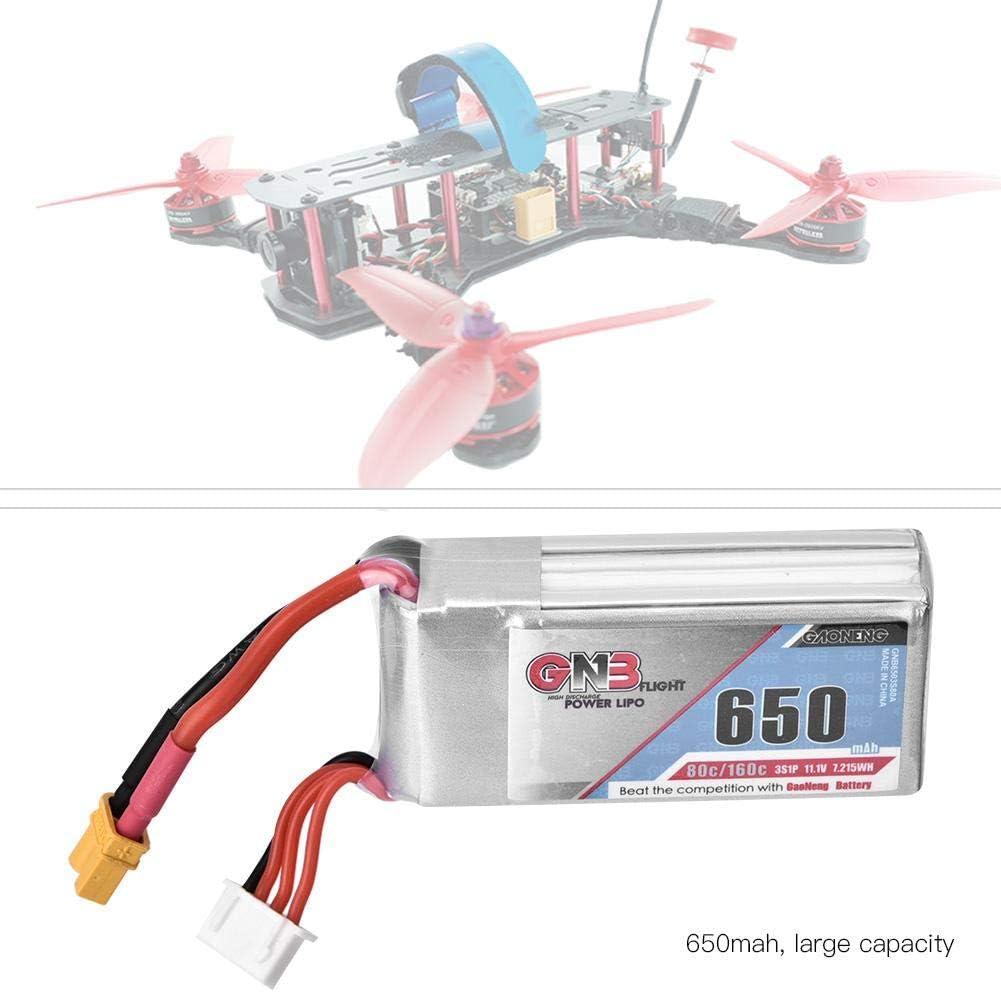 Dilwe Batterie LiPo de 11,1 V Batterie LiPo Rechargeable 650mAh 80 160C pour mod/èle Drone RC