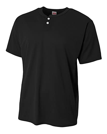 9c553ce4358a8 A4 Sportswear 2-Button Mesh Henley (CUSTOM or Blank Back) Baseball Softball  Uniform All-Season Jersey Top (Avaiable in 10 Colors in Youth   Adult Sizes)