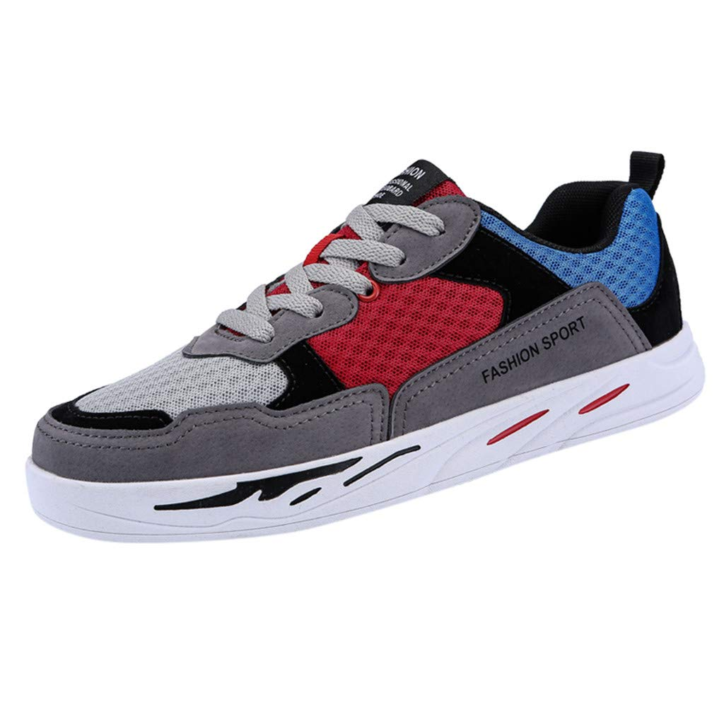 GINELO Couples Models Summer Fashion Air Cushion Sports Shoes Non-Slip Wear-Resistant Sneakers Breathable Shoes Red