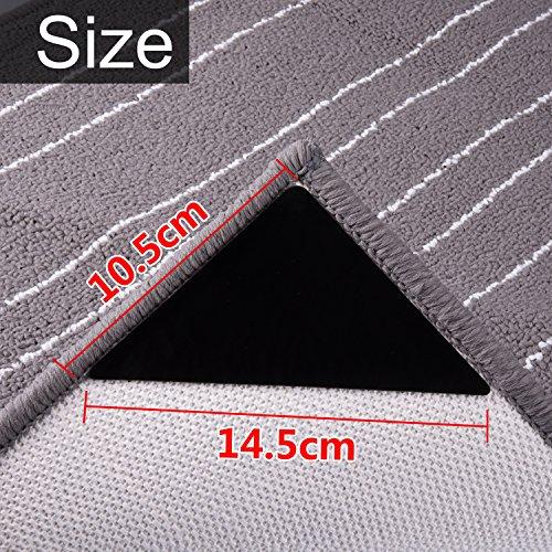 [해외]매끄러운 카펫 코너 그리퍼 러그 스토퍼 비 슬립 매트, 두께 1mm, 검정, 16 팩 1mm/Shappy Carpets Corner Grippers Rug Stopper Non-slip Mat, 1 mm  0.04 I