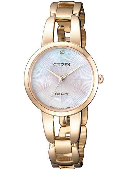 Citizen - Reloj analógico de Cuarzo con Revestimiento de Acero (Pulsera em0433 - 87d: Amazon.es: Relojes