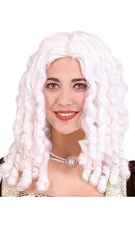 Guirca 4353 - Peluca Tirabuzones Blanca