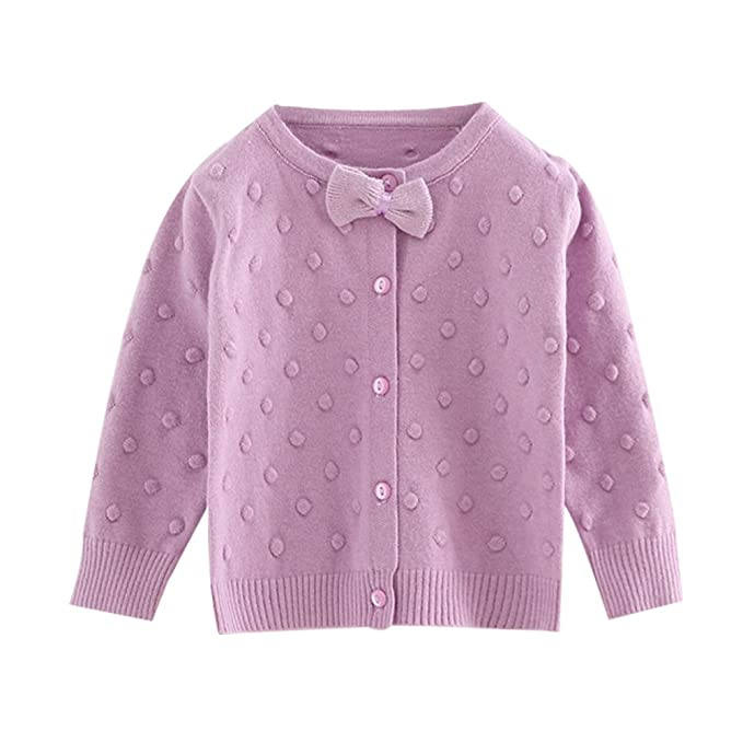 f880213af Amazon.com  Infant Baby Girl Button-down Cardigan 6-48 Month Kid ...