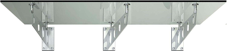 VSG-VERRE BuyLando - L3 Auvent de porte 200X90 cm terrasse Marquise verre s/écurit/é transparent