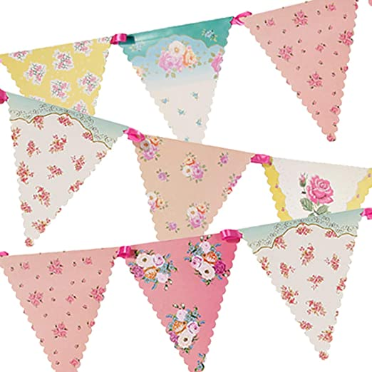 Pick your own colours and length Fabric bunting per meter party wedding