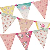 Talking Tables Tea Party Decorations Floral Banner Bunting   Truly Scrumptious   Also Great for Birthday Party, Baby…