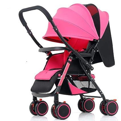 Carruajes de bebé Sit Horizontal Plegable Portátil de cuatro Ruedas Amortiguador bidireccional Carro de Bebé Recién