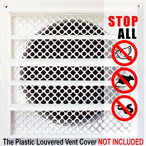 New Aroma Trees Dryer Vent Bird Stop - Dryer Vent Grill - Pest Guard - Stops Birds Nesting In Dryer Vents and Bathroom Exhaust Vents Pipe, Customizable 3