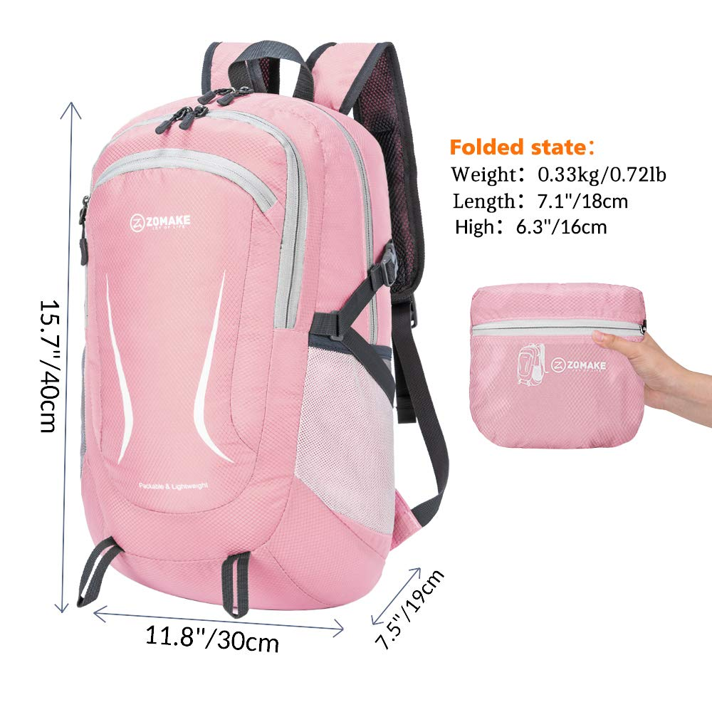 Packable Durable Water Resistant Travel Backpack Daypack for Women Men ZOMAKE Ultra Lightweight Hiking Backpack