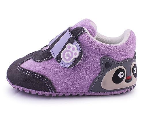 cartoonimals Baby New Born Cribs Shoes Racoon Lilac 2