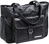 Clark & Mayfield Stafford Pro Leather Laptop Tote 15.6'' (Black)