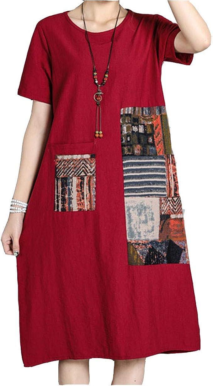 Logobeing Vestido Vestidos Mujer Casual Verano Estampado de ...