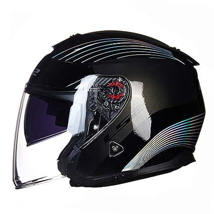M Casco Moto Jet Crash Open Face Blu Folconauto Casco Moto