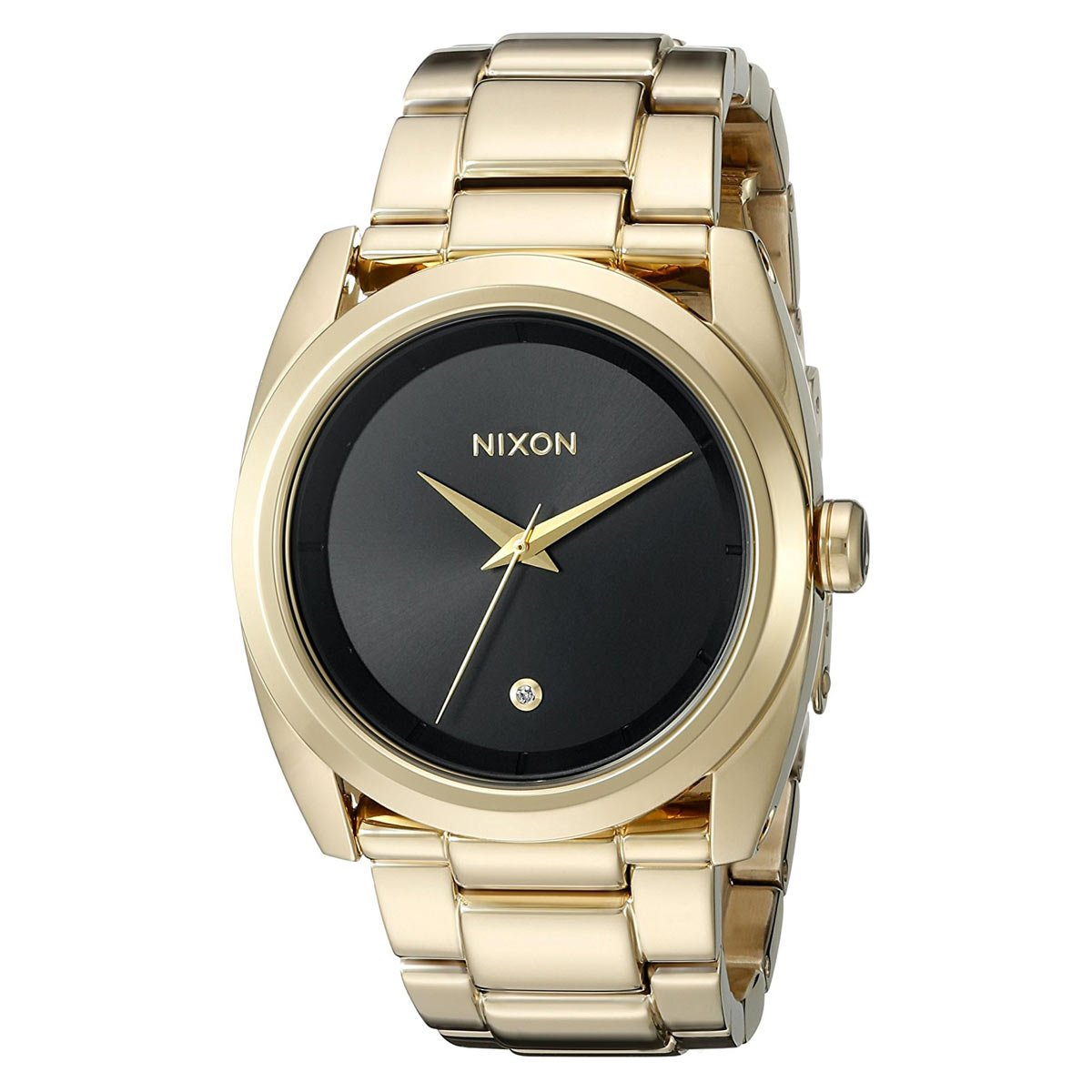 Nixon Women's A935510 Queenpin Analog Display Japanese Quartz Gold Watch