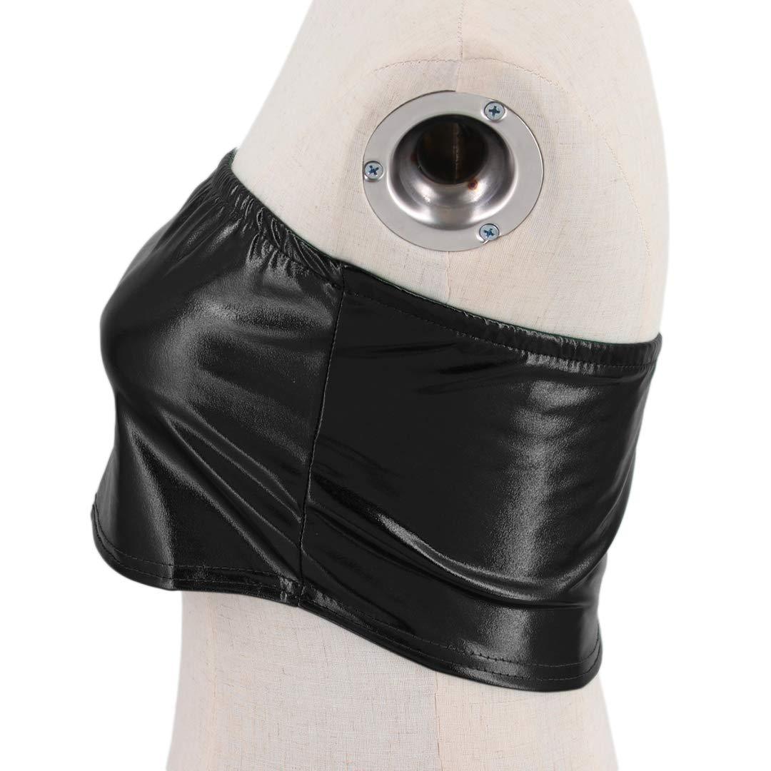 b74e7e9db45 Vimoisa Women Metallic Strapless Crop Tube Tops Bandeau Bra at Amazon  Women s Clothing store