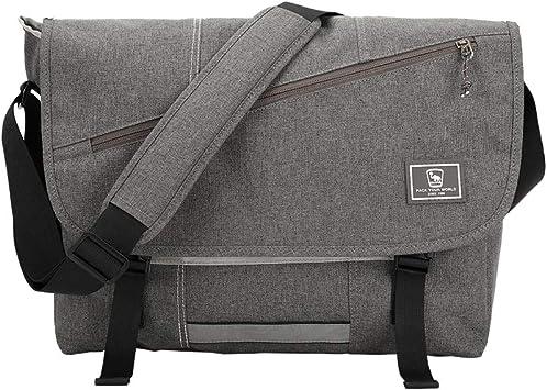 OIWAS Messenger Bag, Canvas 15.6 Inch Laptop Briefcase