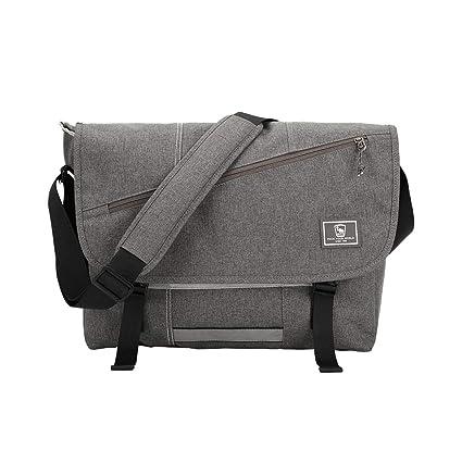 57c78793ad73 OIWAS Messenger Bag Satchel Leisure Canvas 15 Inch Laptop Shoulder  Briefcase Pack Crossbody Backpack for Men Women Teens