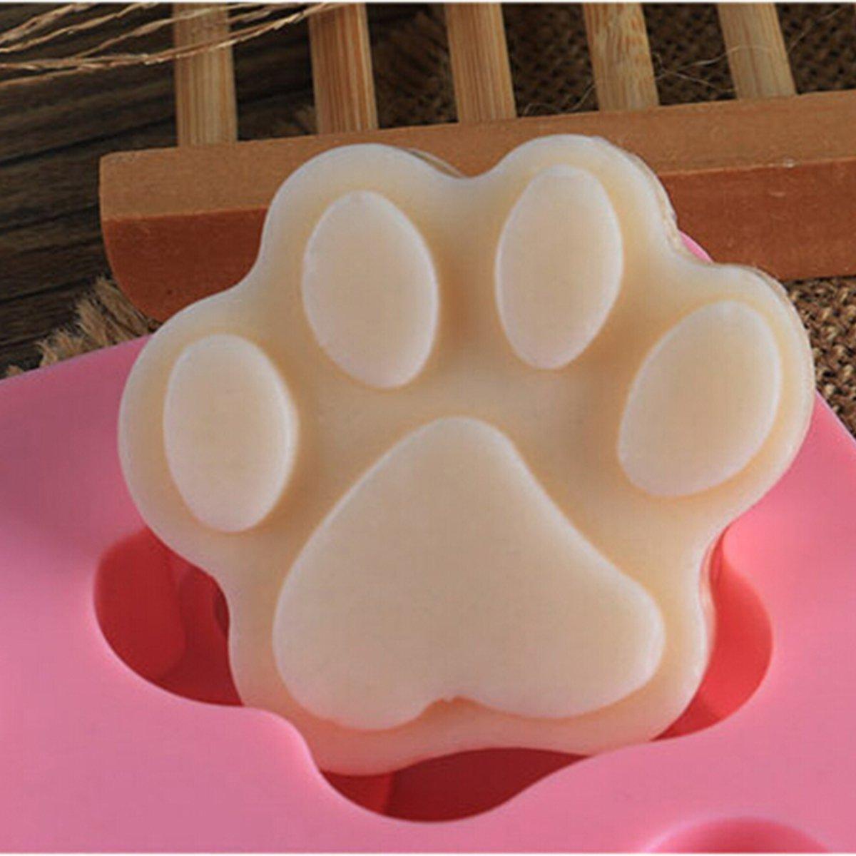 bouti1583 Cat Paw Charlotte Pastel Hornear Molde de silicona con 6 Cavidades: Amazon.es: Hogar