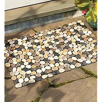 This Item Indoor/Outdoor River Rock Floor Mat, 19 1/2u0027u0027H X 30u0027u0027W