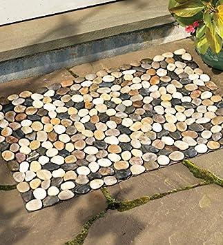 Amazon.com : Indoor/Outdoor River Rock Floor Mat, 19-1/2\'\'H x 30 ...