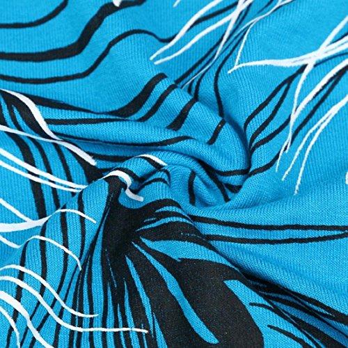 Tongshi Las mujeres flojo irregular del hombro de la blusa de manga larga T remata la blusa (EU 38(Asia L�? Negro) Cielo azul