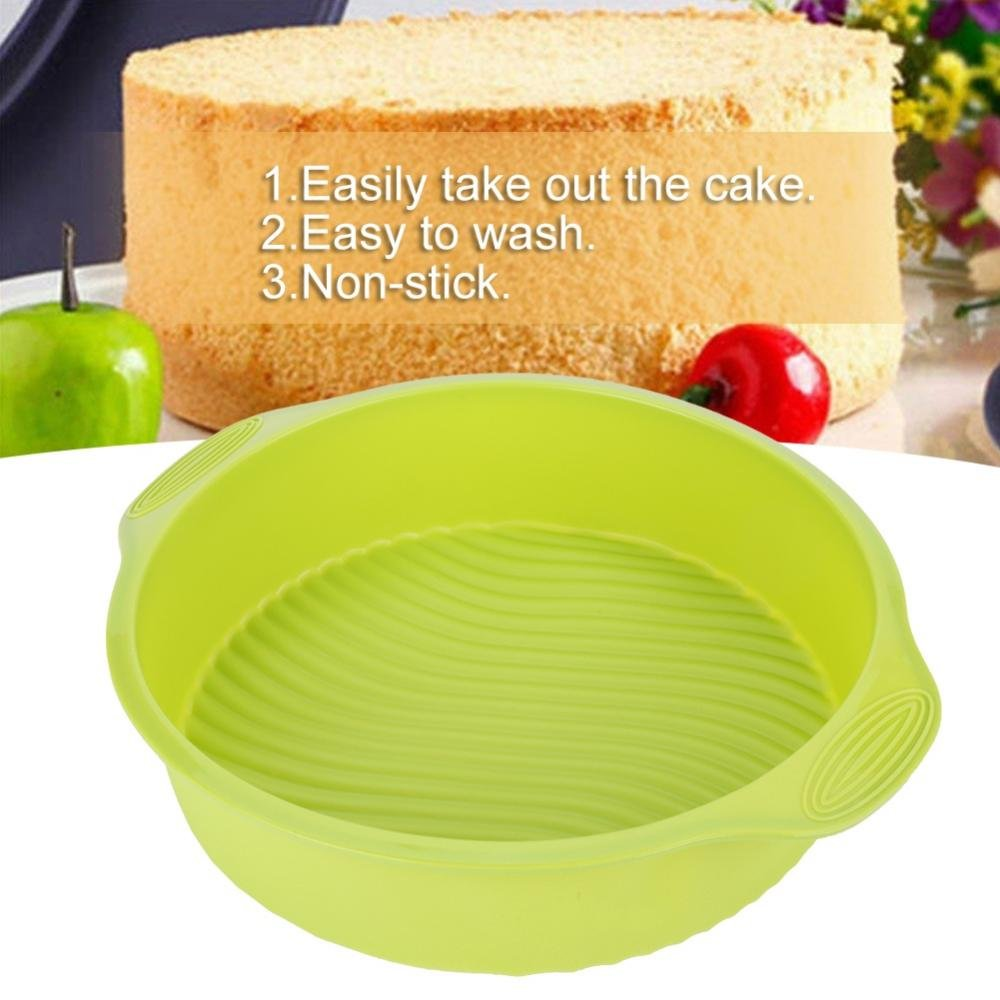 Blue 9 Inch Cake Mold Silicone Round Shape Customized Various Baking Pan for Oven