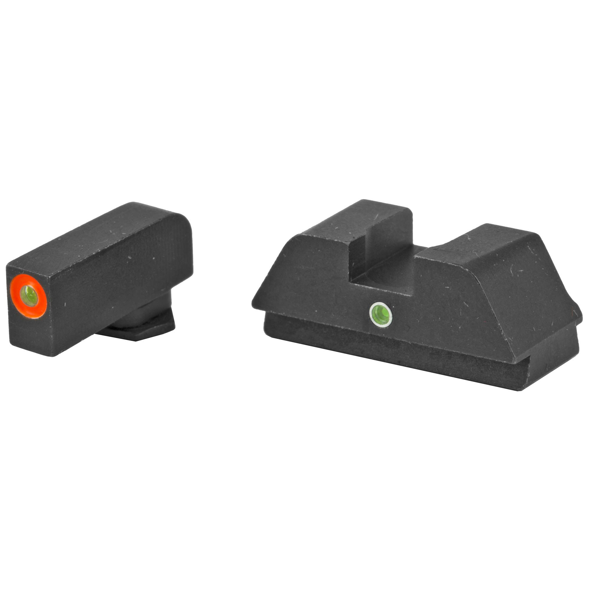 AmeriGlo Tritium I-Dot Green with Orange Outline Sight Set for Glock 42/43 by AmeriGlo