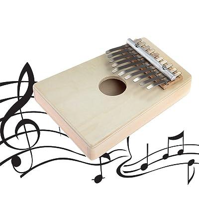Gugutogo 10 Touches Kalimba Mbira Likembe Sanza Pouce Piano Pin Jaune Instrument (Couleur: couleur naturelle)