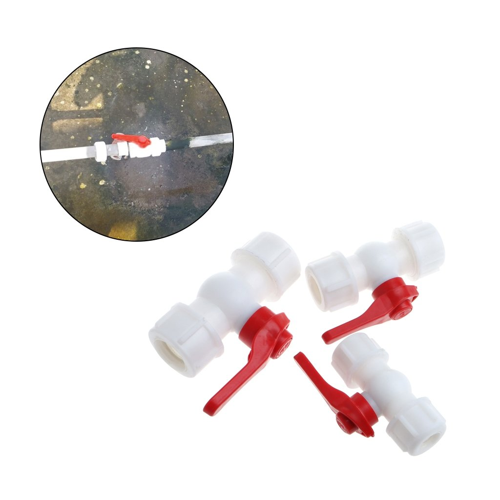 tandougangr Water Feed Connector, 20mm/25mm/32mm Water Pipe Valve Connector PE PPR Tube Ball Valves Accessories (20mm)
