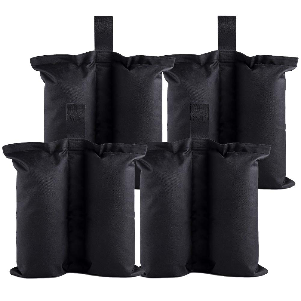 Keymaya Canopy Weight Bags for Pop up Canopy Tent, Sand Bags for Instant Outdoor Sun Shelter Canopy Legs 4 PCS