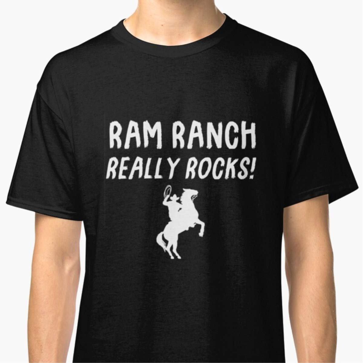 Unisex T-Shirt Ram Ranch Really Rocks Shirts For Men Women Gift Friends Mon