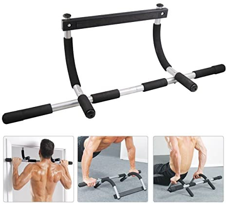 Heavy Duty Doorway Chin Pull Up Bar Exercise Fitness Gym Home Door Mounted  sc 1 st  Amazon.com & Amazon.com: Heavy Duty Doorway Chin Pull Up Bar Exercise Fitness Gym ...