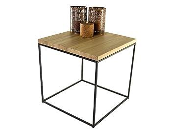 Table Basse De Salon En Bois Et Métal Industriel Vintage Et