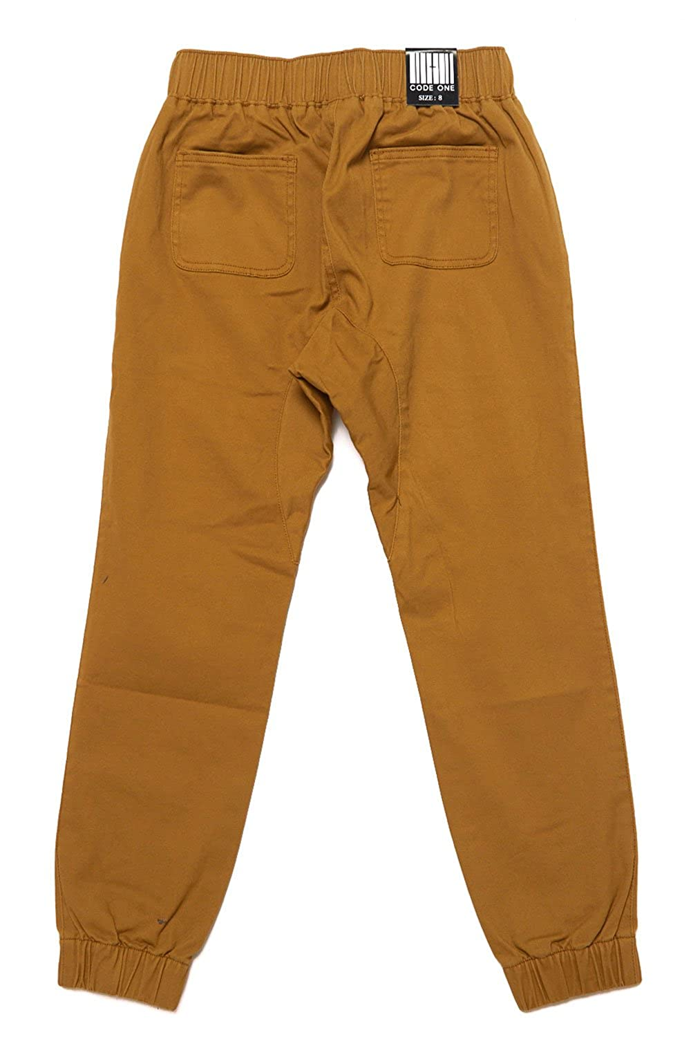 Boys Casual Bending Elastic Drawstring Jogger Pants COKJ-71 4, Wheat