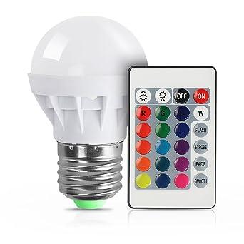 Vicloon E27 3W Bunte LED Birne 16 Farben Andernd Dimmable Fernsteuerpult  Eingeschlossen Magische Lampe