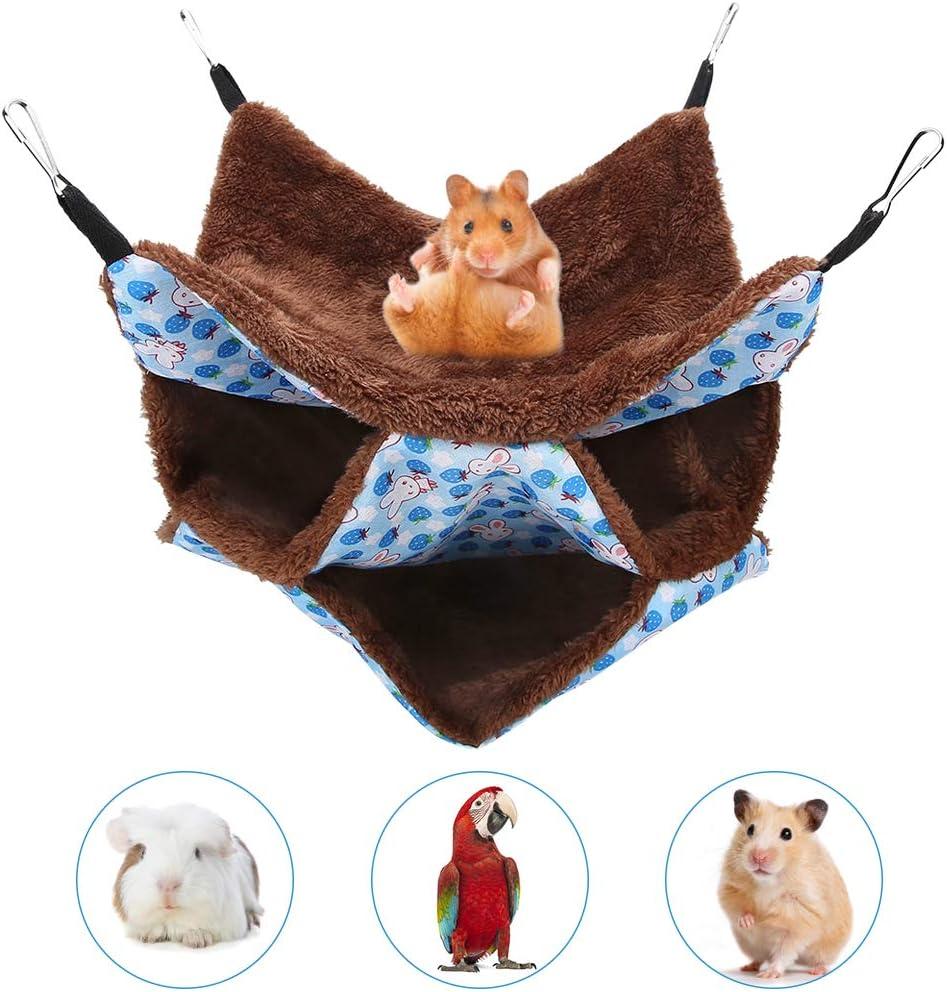 YOUTHINK Cama para Hurones, Mascota de Tres Pisos Hamaca pequeña Jaula para Mascotas cálida y Suave Hamaca Hamaca Cama Colgante Hurón Loro Conejillo de Indias