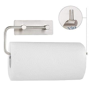 HOMFA Support pour essuie-tout Porte-papier de cuisine mural en Acier  Inoxydable 3M 6cd01ddd145e
