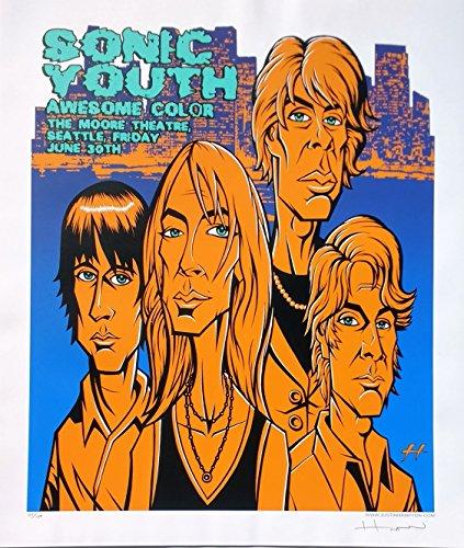 Sonic Youth Poster w/ Awesome Color 2006 Concert