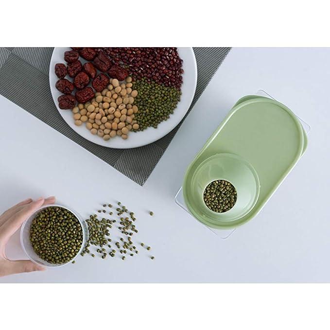 TrifyCore 1 Paquete de Gran Capacidad herm/ético seco contenedor de Alimentos de Cereales Duradero 2.5L Caja de Almacenamiento Transparente de Almacenamiento del Tanque de Cocina Color al Azar