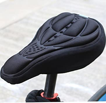 3D Gel Silicone Bike Bicycle Saddle Seat Cover Pad Padded Soft Cushion Comfort