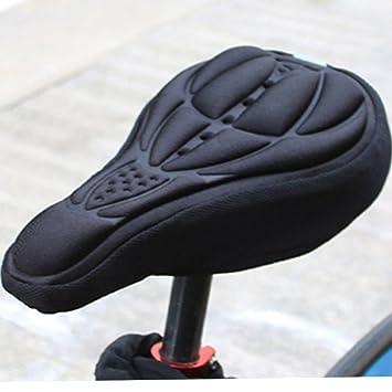 3D-gel acolchado bici funda de asiento-Negro: Amazon.es: Deportes ...