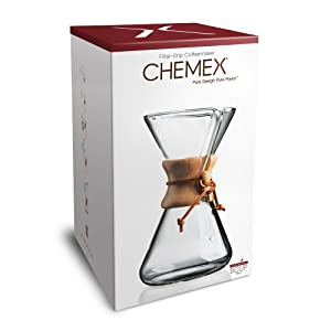 Chemex Handblown, Pour-Over Glass Coffeemaker, 8-Cup