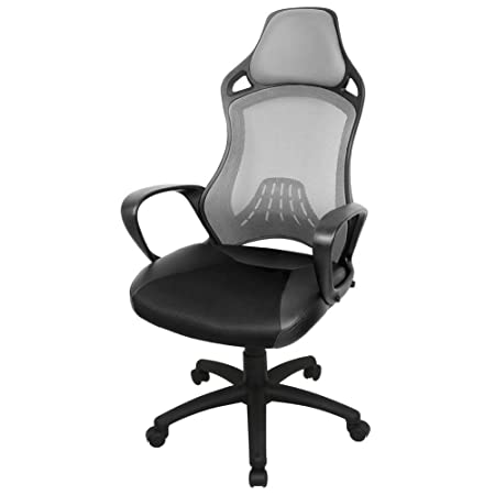 black fabric plastic mesh ergonomic office. IWMH High-Back Office Chair With Head Support Height Adjustable, Racing Sport PU Leather Black Fabric Plastic Mesh Ergonomic