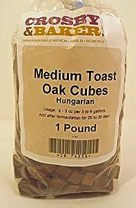 Home Brew Ohio 5X-1189-5UIG Hungarian Medium Toast Oak Cubes 1 Pound Brown