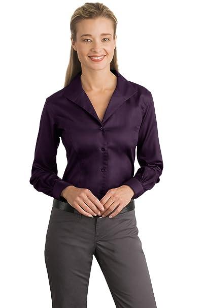 dc63b4bd Red House Women's Herringbone Non Iron Button Down Shirt at Amazon Women's  Clothing store: