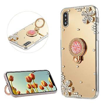 coque iphone 5 effet miroir avec bague