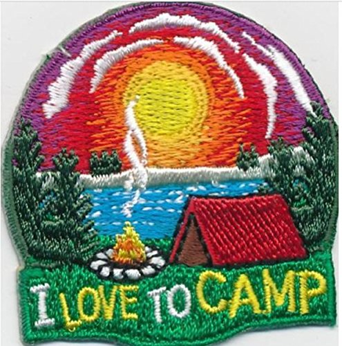 Cub Girl Boy I LOVE TO CAMP Embroidered Iron-On Fun Patch Crests Badge Scout Guides