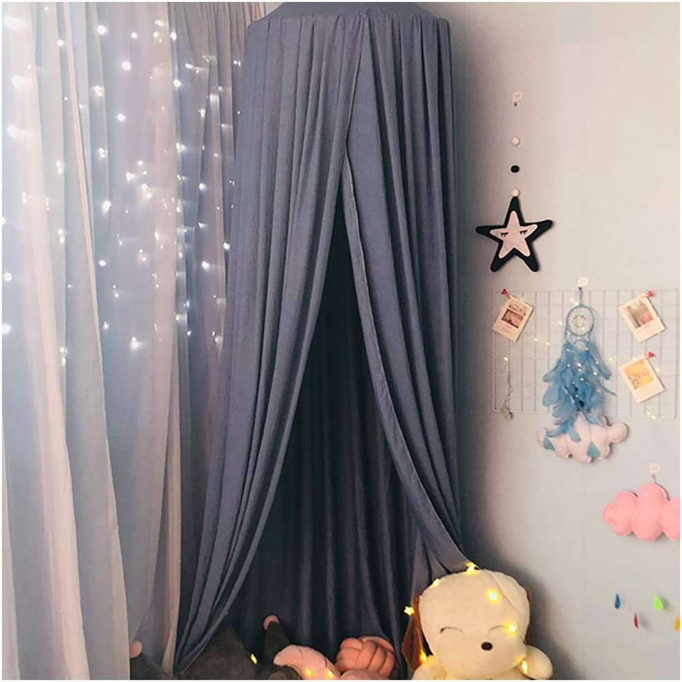 Bed Canopy Kids Dome Mosquito Net Play Tent Nursery Room Decorations Hanging Dirty Dusty Bed Canopies Black Height:2.5M